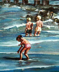 kids on th ebeach by tonkinson-art-001