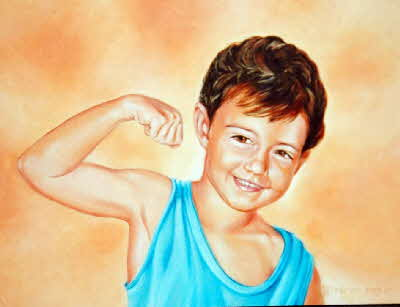 portrait of Keagan by tonkinson-art