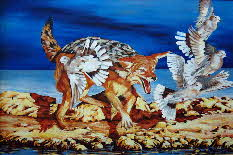 silver backed jackal by tonkinson-art