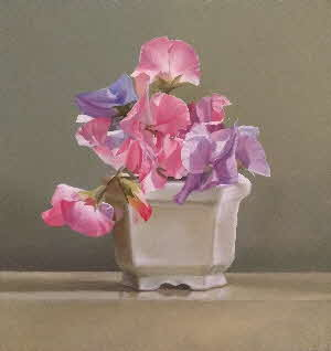 still life sweetpeas by tonkinson